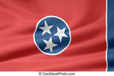 Flag of Tennessee - Very large flag of Tennessee