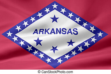 Flag of Arkansas - Very large flag of Arkansas