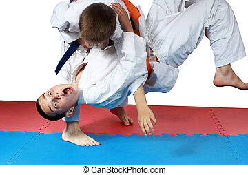 Nage-waza technique are doing boys - Nage-waza technique in...