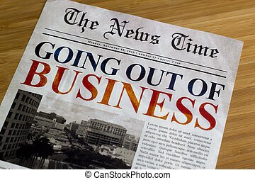 Going out of business - Economic recession, going out of...