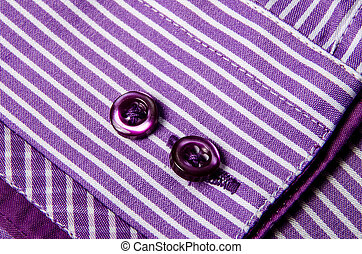 Buttons sleeve shirt Macro photo for microstock