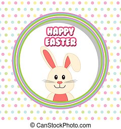 Happy Easter design - Happy Easter concept with cute icons...