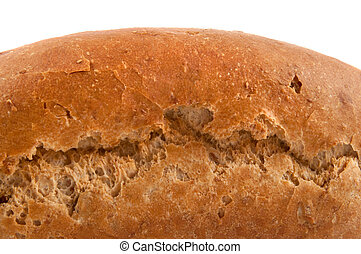 Fresh bread. - Close, low level focussing on the side of a...
