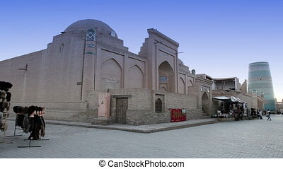 unfinished Kalta Minor Minaret. Khiva, Uzbekistan -...