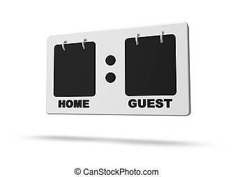 scoreboard  on white background - 3d illustration