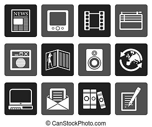 Flat Media and information icons