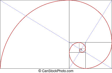 golden ratio - fibonacci golden ratio for design harmony,...