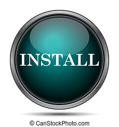 Install icon Internet button on white background