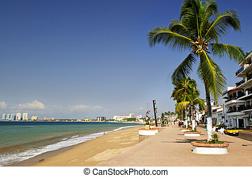 Pacific coast of Mexico - Vacation at Puerto Vallarta beach...
