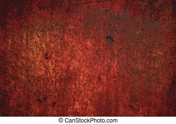 red rusty metal background