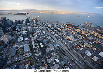 downtown san francisco aerial view