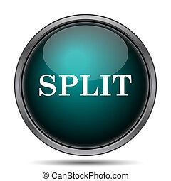 Split icon Internet button on white background