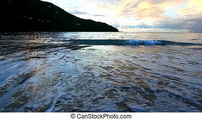 Virgin Islands Beach Sunset Tortola - Sunset over Brewers...
