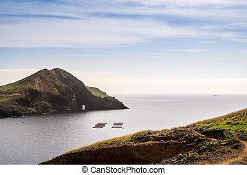 Beautiful views on trail to Ponto do Sao Lourenco, Madeira,...