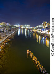 Canal to harbor in Eilat, Israel, Middle East