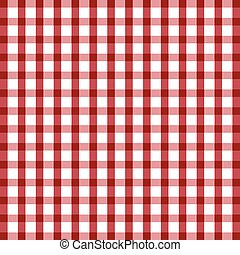 tablecloth illustration in red and white
