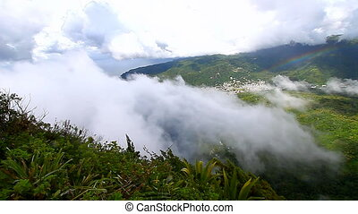 Saint Lucia Petit Piton Summit - View of Soufriere from the...