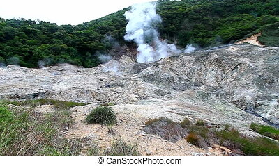 Saint Lucia Sulphur Springs Volcano - View of the Sulphur...