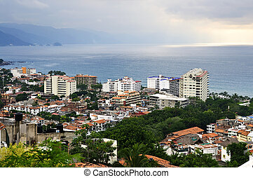 Cityscape in Puerto Vallarta, Mexico - Cityscape view from...