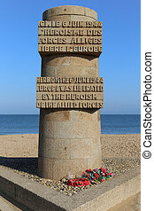 Monument Juno Beach - The Juno Beach Monument in Normandy,...