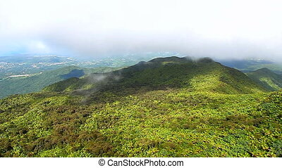 El Yunque National Forest - Mist covers the rainforest peaks...