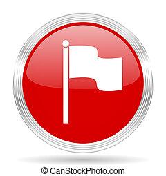 bandera, rojo, brillante, círculo, moderno, tela,...