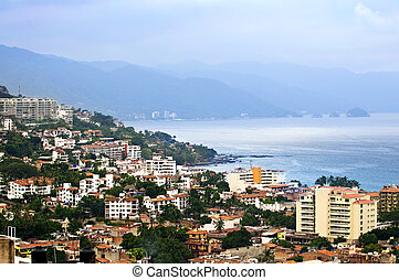 Puerto Vallarta, Mexico - Viiew from above at Puerto...