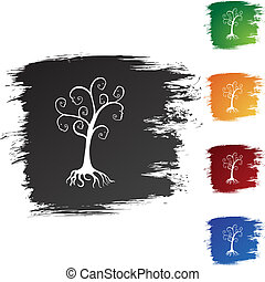 Family Tree web button isolated on a background