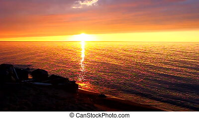 American Great Lakes Sunset - Sunset at the southern...