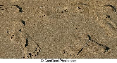 Footprints on Isolated Beach Sand