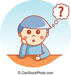 Confused boy