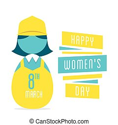 happy womens day design - happy womens day, women profession...