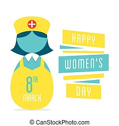 happy womens day design - happy womens day, women nurse...