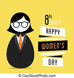 happy womens day design, business women design