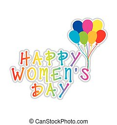 colorful happy womens day greeting design vector