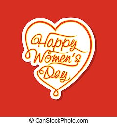 happy women day sticker design - happy women day sticker or...