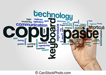 Copy paste word cloud concept - Copy paste word cloud