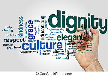 Dignity word cloud concept - Dignity word cloud