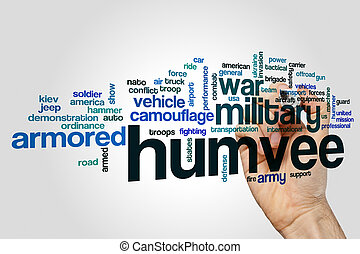 Humvee word cloud concept - Humvee word cloud