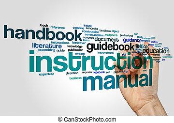 Instruction manual word cloud concept