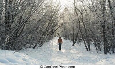 Man Walking Away