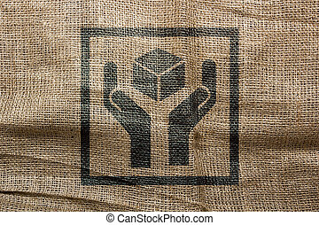 Industrial character of the stamp on the bag - The...