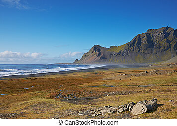 Lonely road in the East Fjords, Iceland
