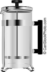Stainless Steel French Press - The glass teapot for brewing...