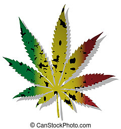 Cannabis-Marihuana - Illustration of abstract symbol of...