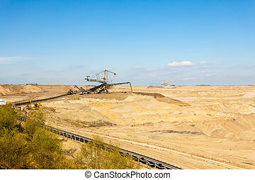 Opencast brown coal mine Open pit - Open pit Opencast brown...