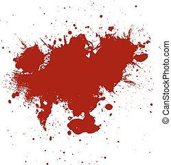 Red ink  paint splatter  Background. illustration vector design