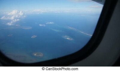 View from an airplane window