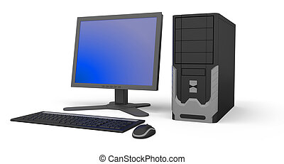 PC Workstation  - Image of PC Workstation. White background