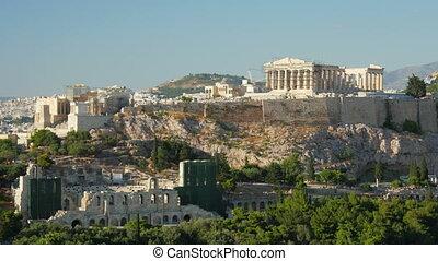 Acropolis, Athens, Greece, Timelapse, zoom in, - Acropolis,...